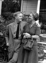 """In this photo provided by the Monroe County Heritage Museum shows Truman Capote, left, and his aunt Mary Ida Faulk Carter that was shot during a visit by Capote to his childhood home in Monroeville, Ala., in April 1963 while he was working on """"In Cold Blood."""" An exhibit on Capote&squot;s childhood in Monroeville open April 27, 2006, at the Monroe County Heritage Museum and includes 12 letters Capote wrote home to his Aunt Mary Ida over three decades."""