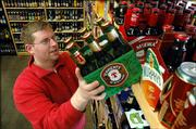 Spencer Duncan, owner of World Wine and Beer, 3106 Iowa, provides a bevy of imported beers from around the world. Offering imports has been good business for Lawrence retailers.