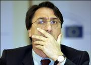 Italian lawmaker Giovanni Claudio Fava addresses the media at the European Parliament in Brussels, Wednesday, April 26, 2006. European Parliament investigators said Wednesday data gathered from the EU air safety organization show there have been more than 1,000 undeclared CIA flights over European territory since 2001.