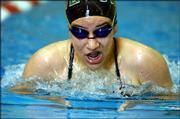Free State swimmer Bailey Carlson competes during the Girls 200 Yard Individual Medley Monday afternoon against Blue Valley at the Lawrence Indoor Aquatic Center.