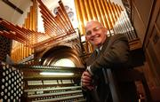 Organist Dan Abrahamson, 70, will retire his post at the end of May after 42 years of delighting parishioners at First United Methodist Church. A retirement party is planned in his honor tonight, followed by an 8 p.m. recital that is free and open to the public.