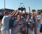 Kansas players show off the championship trophy Saturday, May 13, 2006, after defeating Oklahoma 4-2 in the Big 12 softball tournament championship game in Oklahoma City.