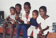 Five of Madeleine Sow's children, from left, Fode Drame, Lamine Drame, Amadou Diaw, Mohamed Drame and Aida Drame, are pictured in the mid-1980s in Senegal.