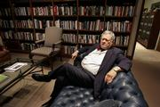"Stephen Trachtenberg, outgoing president of George Washington University, poses in his office in Washington, Thursday, May 11, 2006. Modern college presidents must be ""intellectual leaders, scholars, managers, sensitive to people, knowledgeable about monetary affairs and investments, boosters of athletics, culture and dance, good with neighbors, agile fundraisers,"" said Trachtenberg, who recently _ and without any particular controversy _ announced plans to retire after 19 years as president of George Washington University. ""The job description is so expansive and so unforgiving that what is impressive is there are as many people as are willing to stand up and take a shot."""