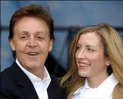 Sir Paul McCartney and his wife, Heather Mills McCartney, are shown in May 29, 2003, file photo. McCartney and his wife are planning to separate after nearly four years of marriage.