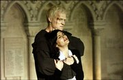 "Paul Bettany, left, torments Audrey Tautou in filmmaker Ron Howard&squot;s ""The Da Vinci Code."""