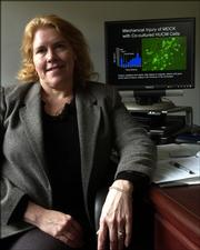 Kansas University assistant professor Kathy Mitchell's research on stem cells got a $150,000 boost from the Legislature through the efforts of anti-abortion advocate Rep. Mary Pilcher-Cook, R-Shawnee.