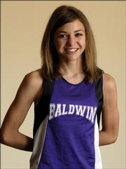 Athlete of the year ¢  Heather Garcia ¢ Baldwin ¢ Soph. ¢ 3,200 meters