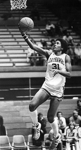 Former Jayhawk basketball player Lynette Woodard.