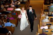 The wedding of Heidi and Brad Barker held Saturday June 25 at the First Baptist Church in McLouth, Ks. About 300 people attended. The bride and groom are both long time McLouth residents are KU graduates and will reside and work in Lawrence. Heidi is the daughter of Traci and George Karn, McLouth and Brad is the son of Debi and David Barker, Basehor.