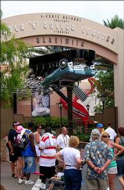 Guests are informed that the Disney MGM Rock 'n' Roller Coaster is closed Thursday in Orlando, Fla. Michael Russell, 12, from Fort Campbell, Ky., died after riding the roller coaster, according to the Orange County Sheriff's Office.