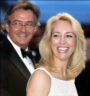 former ambassador Joseph Wilson, left, and his wife, Valerie Plame, a former CIA officer, allege in a lawsuit that Bush administration officials illegally conspired to violate their constitutional rights and other laws by leaking Plame's identity to reporters. The couple are shown attending the White House Correspondents' Assn.'s 92nd annual awards dinner April 29 in Washington, D.C.