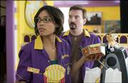"Rosario Dawson and Brian O'Halloran star in Kevin Smith's comedic sequel ""Clerks II."""