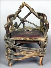 This chair, made from tree roots nailed together, was once owned by Al Capone, the gangster. It sold this spring for $3,360 at a Leslie Hindman Auctioneers auction in Chicago.