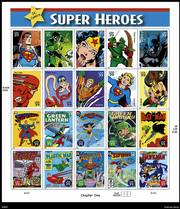 New 39-cent and 24-cent postage stamps featuring Batman, Superman, Wonder Woman, Supergirl and half a dozen other superheroes will be released today.