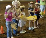 All participants in the stick horse competition find out they all won first place in the event during the open horse show at the Douglas County Fair  on Sunday in the community building arena. Entries in 4-H foods, food preservation, arts & crafts and open food categories will be accepted at the Douglas County Fair today. The fair runs through Sunday, August 6.