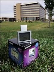 The nuvi 360 is one of the most recent GPS units released by Garmin, shown outside the company's headquarters in Olathe.