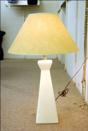 An Inexpensive lamp is an easy way to brighten up an apartment or new dorm room. Courtesy of the Antique Mall, 830 Mass.