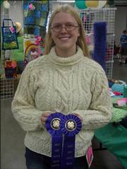 Sarah Heschmeyer was the Grand Champion for Heritage Arts (the sweater she is wearing) at the Douglas County 4-H Fair.