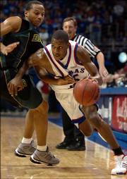 Sophomore Mario Chalmers will help lead the 2006-07 Jayhawks.