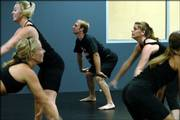Tim Flattery, the only male dancer on the Kansas University Rock Chalk Dance Team, works out with female members of the squad during a recent practice at Dance City Performing Arts Academy Inc., 5150 Clinton Parkway.