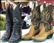 Gary Hollis says custom boots start out about $400 a pair.
