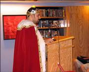 """Mysterious Author Maddox appears at a book signing for """"The Alphabet of Manliness."""""""