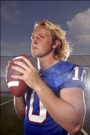With his long, blond locks, Kansas University freshman quarterback Kerry Meier has the look of a rock star. All that matters to the Jayhawks this fall is his ability to make sweet music on the football field.