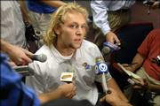 Kansas University quarterback Kerry Meier is slated to start the Jayhawks' season opener against Northwestern State at 6 p.m. Saturday. His brother, Dylan, will start under center for Kansas State at the same time against Illinois State. Kerry Meier answered questions at Tuesday's KU football news conference.