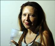 Pamela Krommendyk, Lawrence, said she drinks bottled water because tap water makes her sick.