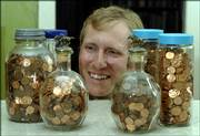 Lawrence resident Gregor Brune has a passion for pennies dated 1968. In 1999, he decided to start collecting the coins, based on his affinity for the year 1968, and he now has more than 6,500.