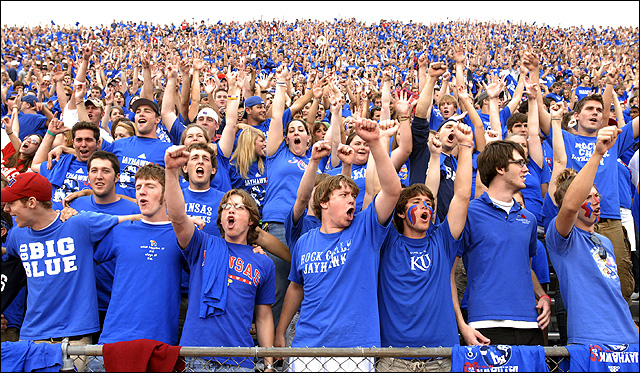 26dc675b4f7 Study finds KU s Memorial Stadium offers one of the top home-field  advantages in college football