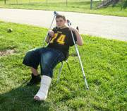 South Cougar Randy Smith broke his leg during practice earlier in the summer. The freshman hopes to play before the season is out.