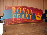 Star Signs & Graphics received $250,000 for producing 60 signs for concessions stands at the Superdome, including this one for Royal Feast.