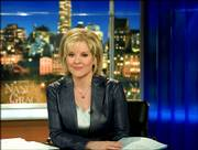 This undated promotional photo, provided by CNN Headline News, shows Nancy Grace on the Headline News set in New York, where she is host of a news show that explores legal issues.