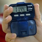 A Student's pedometer used during the school day records that one students had taken 1,144 steps.