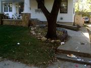 Neighbors complain about trash left in their yards.