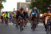 Hundreds of cyclists embark on an 30-mile ride across Douglas County, starting and finishing at South Park in Lawrence. Saturday's Octoginta Tour de County ride toured the backroads of Douglas County. The Octoginta Ride starts at 8 a.m. today, leaving from South Park.