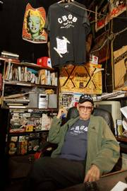 CBGB owner Hilly Kristal is surrounded by memorabilia at his club in New York. After Sunday, the legendary club that has hosted acts such as Patti Smith, the Talking Heads, the Ramones, and Blondie will close its doors for good, ending a 33-year run as punk rock's seminal music venue. Smith will play the final show on Sunday.