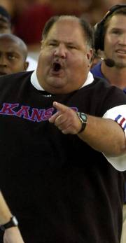 Mark Mangino Football ¢ Will be allowed to participate in a bowl game. ¢ Reduction of three scholarships for the next two years. ¢ Reduction of recruited two-year college transfers to three in 2006 and 2007.