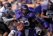Bubba Wills runs down field during the first half. Haskell lost to Avila 21-13 Saturday afternoon at Haskell.