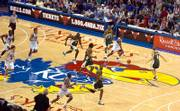 The Chicago Bulls fast break against the Seattle Sonics at Allen Fieldhouse on Sunday.