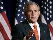 Despite polls showing most Americans are unhappy about the situation in Iraq, President Bush says he won't change the military strategy soon.
