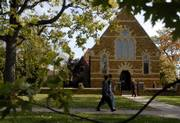 It's been 10 years since the Osborne Chapel opened on the Baker University campus in Baldwin. The chapel was brought over from its original site in England as a shipment of stones and rebuilt on campus. The chapel has been the site of many weddings and other special events.