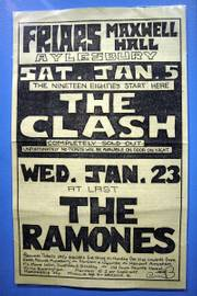 This Clash concert handbill from Aylesbury, England, advertises the band's sold-out 1980 show there, as well as a pending appearance by the American punk rock group The Ramones. It's part of a new display at the Rock and Roll Hall of Fame and Museum in Cleveland.