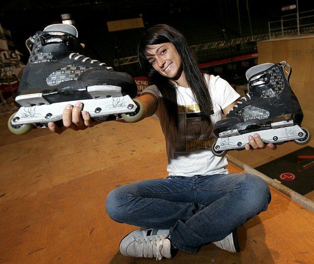 Photo: Inline skater Fabiola Da Silva of Brazil has become ...