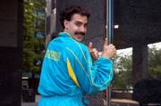 "Sacha Baron Cohen portrays a Kazakhstani TV reporter dispatched to the ""US and A"" in the comedy ""Borat: Cultural Learnings of America for Make Benefit Glorious Nation of Kazakhstan."""