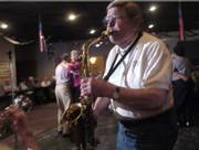 Clyde Bysom performs with the Junkyard Jazz Band during a set at the American Legion last year. Bysom won a 2006 Phoenix Award for musical arts.