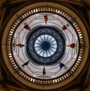 Voters head to the polls today to determine who will represent Kansas in the Statehouse and other areas. The rotunda at the Kansas State Capitol in Topeka was quiet before Election Day.