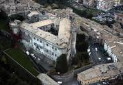 An aerial view taken Friday shows the Orsini Odescalchi castle in the town of Bracciano. Tom Cruise and Katie Holmes are expected to marry in the castle today.